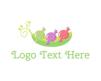 Vegetarian - Sweet Pea  logo design