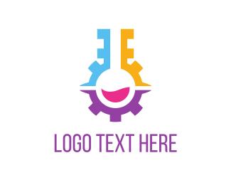 Scientific - Engine Lab logo design