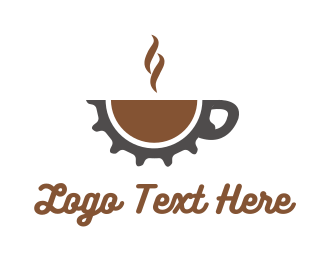 Coffee - Gear Cafe logo design