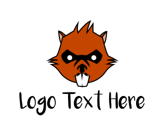 Squirrel - Wild Beaver  logo design