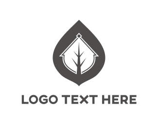 Residence - Grey Leaf logo design