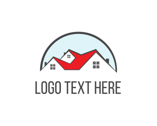 Real Estate - Red Roof logo design