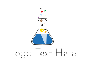 Lab - Lab Bubbles logo design