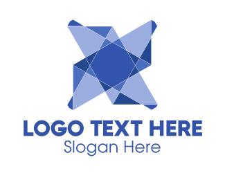 Origami - Geometric Star logo design