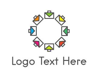 Briefcase - Colorful Briefcases logo design