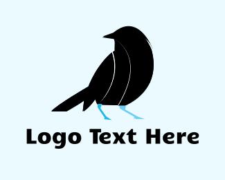 Nest - Black Bird logo design