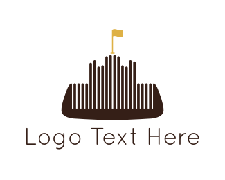 Barber - Comb Castle logo design