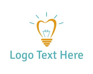 Glow - Bright Light Tooth logo design