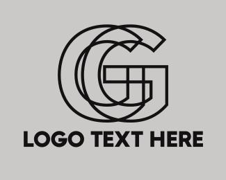 Masculine - Black Outline G logo design