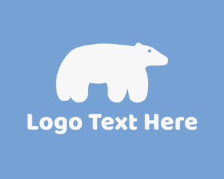 Antarctic - Cute Polar Bear logo design