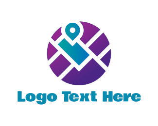Map - Local Guide logo design
