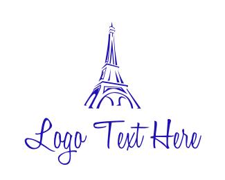 Eiffel - Eiffel Tower Sketch  logo design