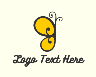 Yellow - Yellow Butterfly logo design