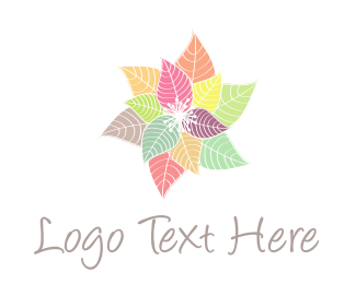 Indie - Colorful Flowers logo design