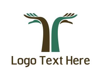 Arm - Hand Tree logo design