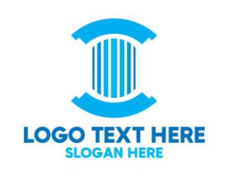 Pillar - Round Pillar logo design