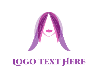 Hairstyle - Purple Hair  logo design