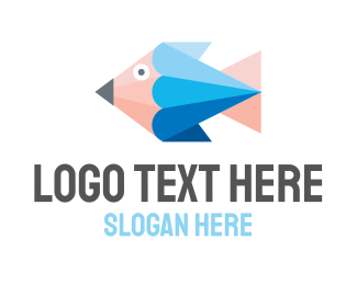 Fish - Pencil Fish logo design