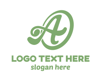 Green Tea - Ring Cursive A logo design
