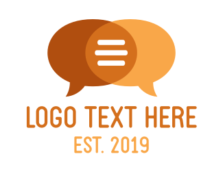 Talk - Orange Speech Bubbles logo design