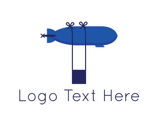 Drone - Blue Airship logo design