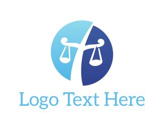 Judge - Law Scales logo design
