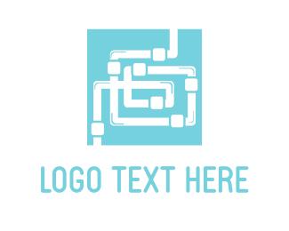 Maze - Plumbing Maze  logo design