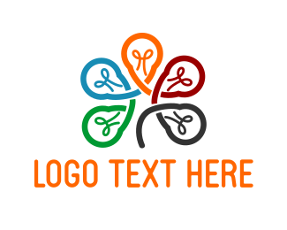 Light - Lamp Flower logo design