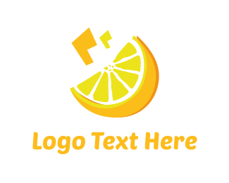 Lemonade - Yellow Lemon  logo design