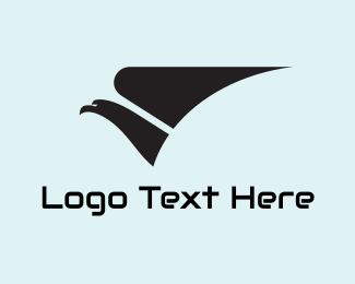 Airline - Grey Eagle & Wing logo design