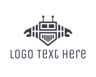 Movie Production - Media Robot logo design