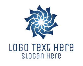 Morocco - Blue Flower logo design
