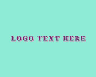 Apparel - Teal & Pink logo design