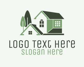 Luxury - Green Mansion House logo design