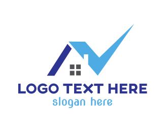 Verification - Blue Check House logo design