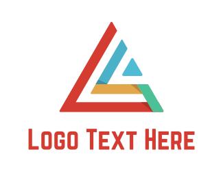 Polygon - Colorful Triangle logo design