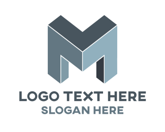 Manufacturer - Letter M Construction logo design