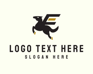 Airline - Express Delivery Horse logo design