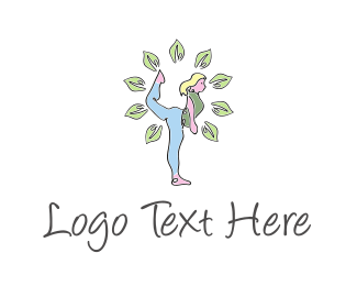 Fit - Yoga Girl logo design