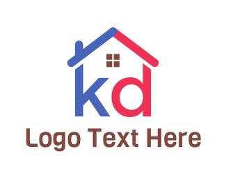 Broker - K & D House logo design