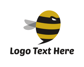 Naughty - Spy Bee logo design