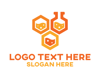 Pharma - Honeycomb Labs logo design