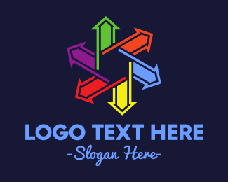 Export - Colorful Directional Star logo design