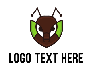 Antenna - Ant Leaf logo design
