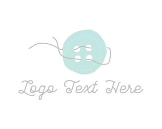 Sew - Thread & Button logo design