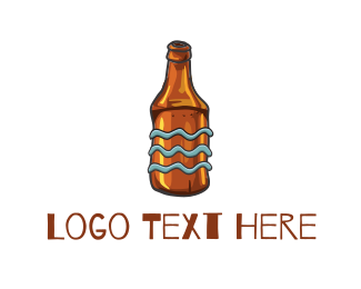 Ale - Old Beer Bottle logo design