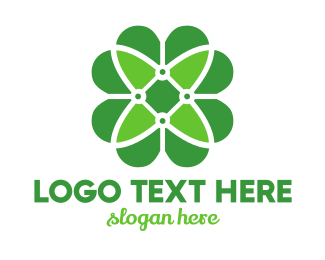 Shamrock - Green Clover Flower logo design