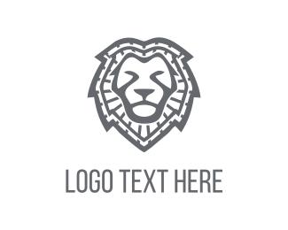 Lion - Lion Face logo design