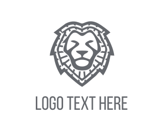 Supreme - Lion Face logo design