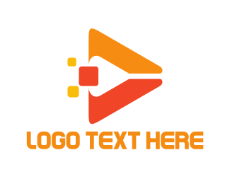 Media Player - Orange Media logo design